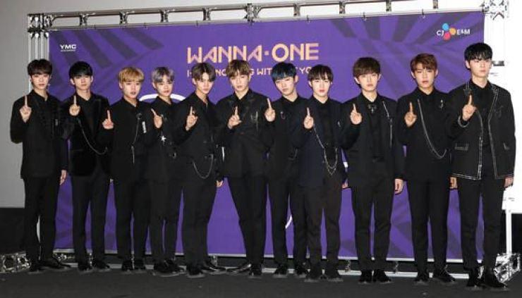 K-pop boy band Wanna One. Yonhap