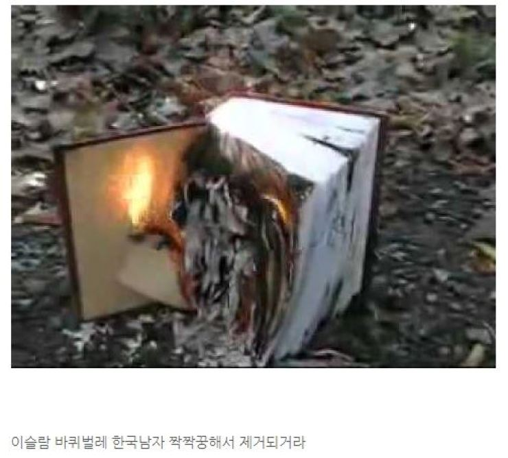 The burning Quran, captured from WOMAD