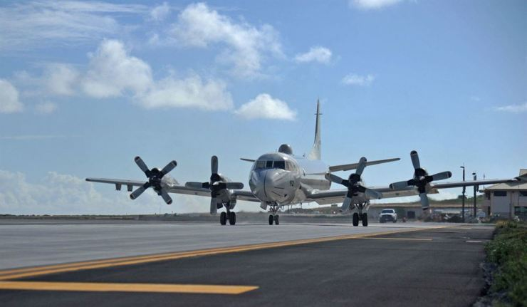 A Japanese P-3C Orion arrives in Hawaii for the Rim of the Pacific (RIMPAC) military exercises. Reuters