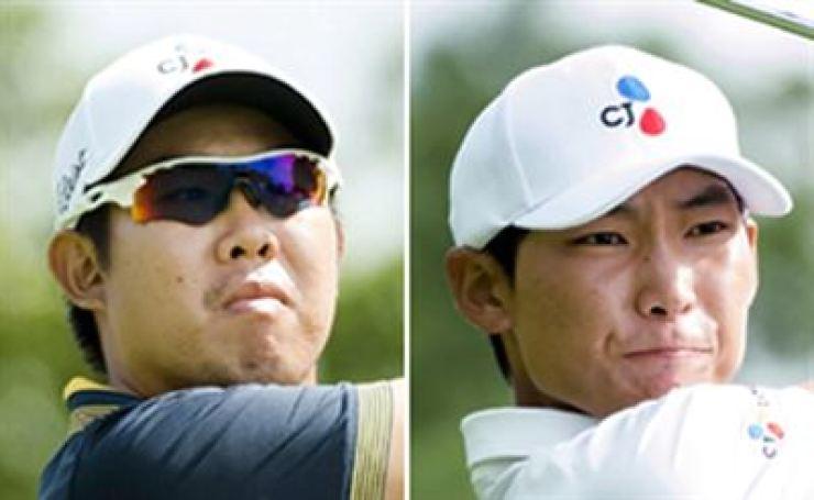 An Byeong-hun and Kim Meen-whee