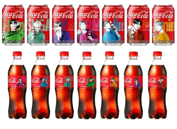 Coca Cola's special BTpackages featuring BTS. Courtesy of Coca Cola