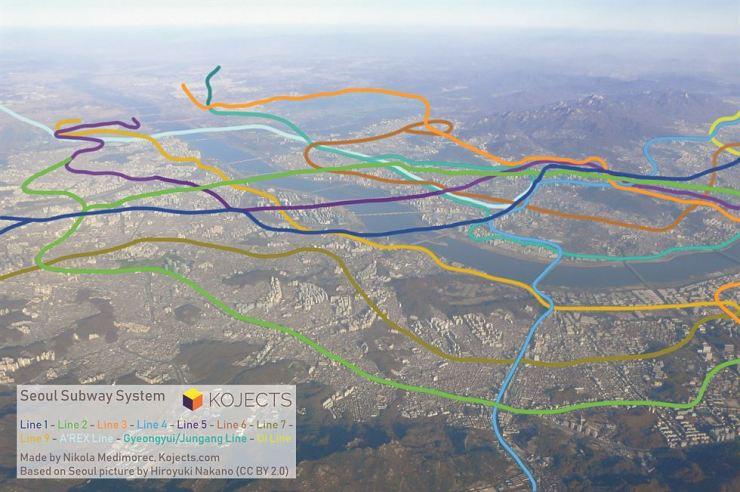 Seoul Subway Map Line 7.Kojects Author Maps Seoul Metro Aboveground