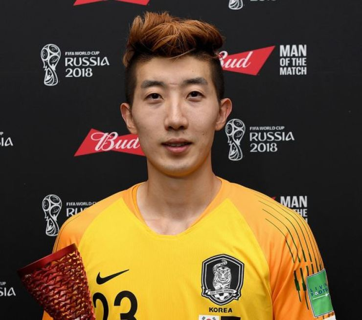 Korean goalkeeper Cho Hyun-woo. Yonhap