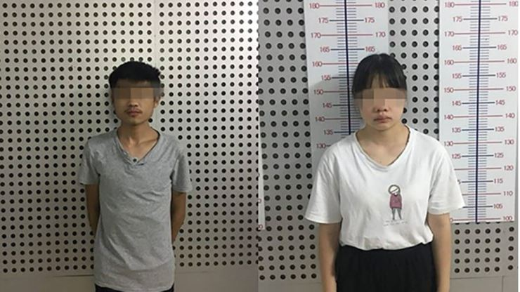 Two of those accused over the sale of a baby girl. Photo from South China Morning Post