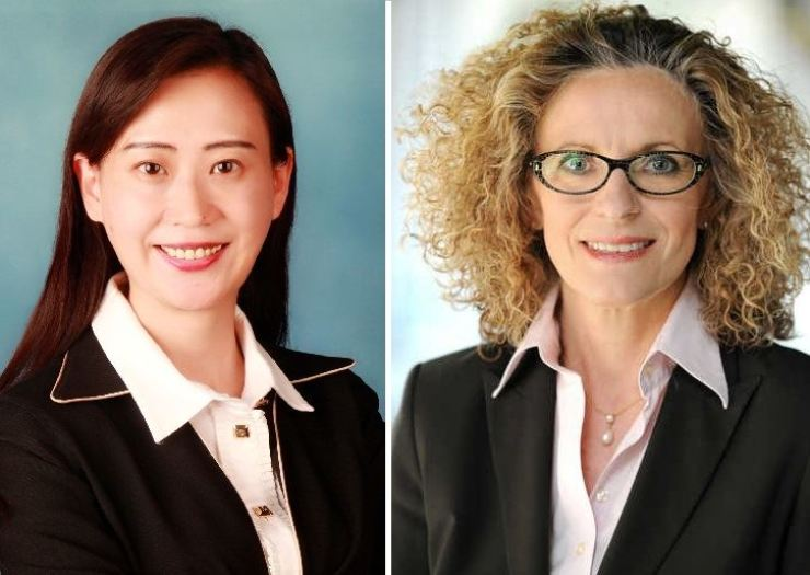 Janssen Korea CEO Jenny Zheng, left, and Bayer Korea CEO Ingrid Drechsel.