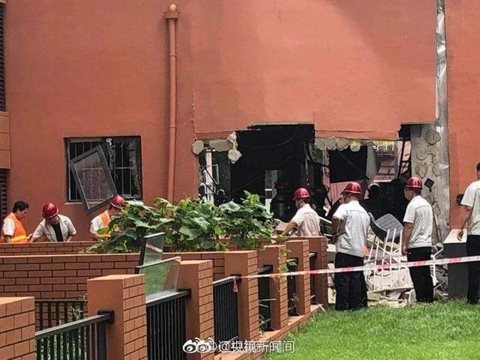 A woman was killed when a gas tank exploded at a Korean barbecue restaurant in Shenyang, capital of northeast China's Liaoning province. Photos from South China Morning Post