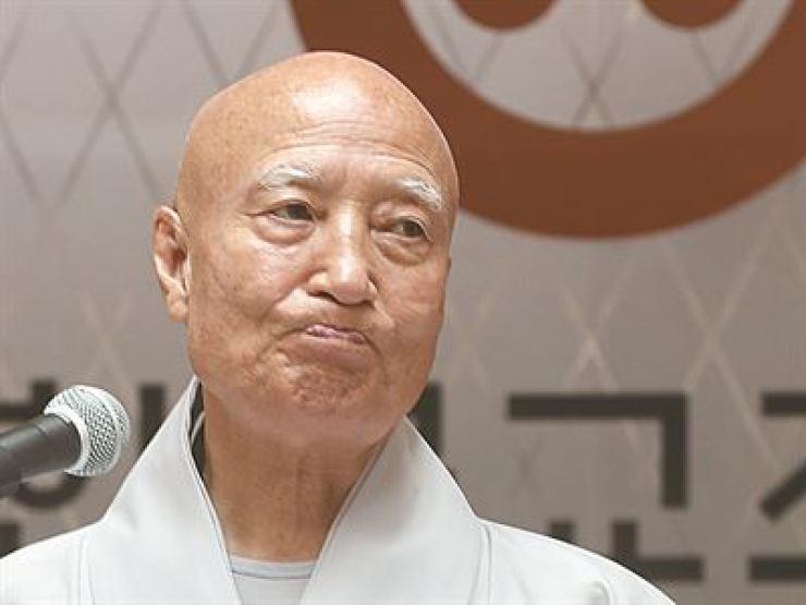 Ven. Seoljeong, president of Jogye Order / Yonhap