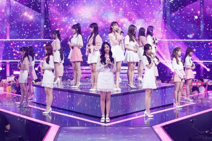 A scene from last episode of Mnet's idol survival show 'Produce 48' / Courtesy of CJ ENM