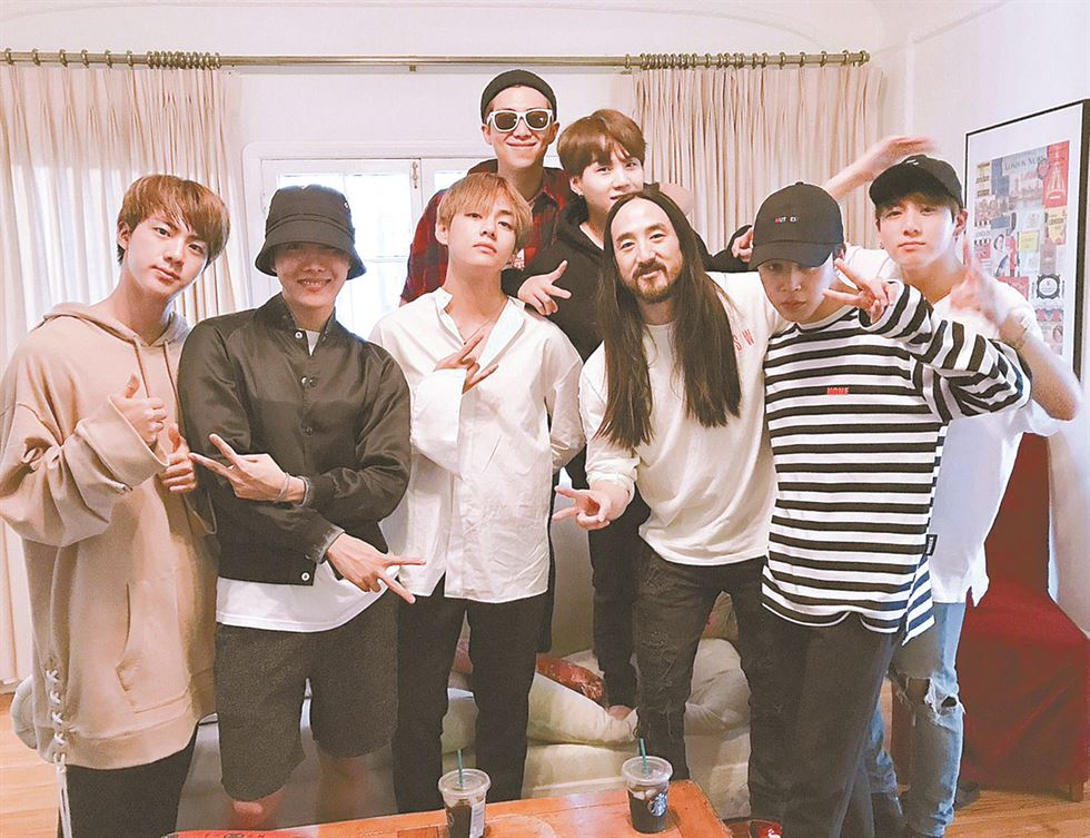 BTS and The Chainsmokers Courtesy of The Chainsmokers through Twitter
