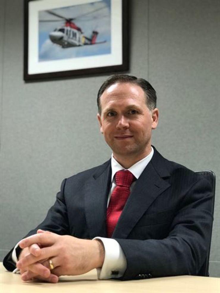 Aaron Lewis, head of Leonardo's Korean office