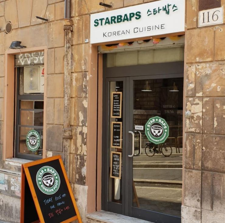 Starbaps Korean food restaurant in Rome / Screen capture from Starbaps' Instagram