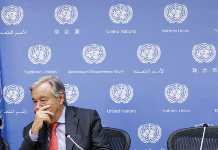 United Nations Secretary-General Antonio Guterres gestures during a press conference leading into next week's General Debate of the United Nations General Assembly at United Nations headquarters in New York, New York, USA, 20 September 2018. EPA-Yonhap