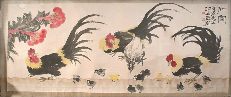 'Rooster' by Chinese artist Qi Baishi in Lee Seon-hee's collection / Courtesy of Lee Seon-hee