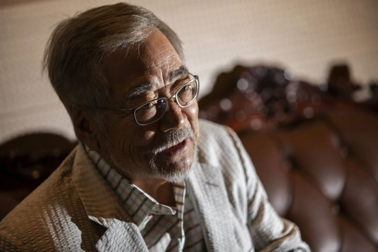 Joon Bai tells the story of his journey back to North Korea, where he was born, during an interview with The Korea Times on Sept 13. Korea Times photo by Shim Hyun-chul