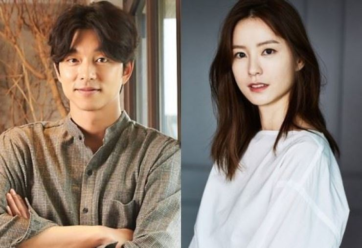 Gong Yoo, left, and Jung Yu-mi denied being in a relationship. Courtesy of Management Soop