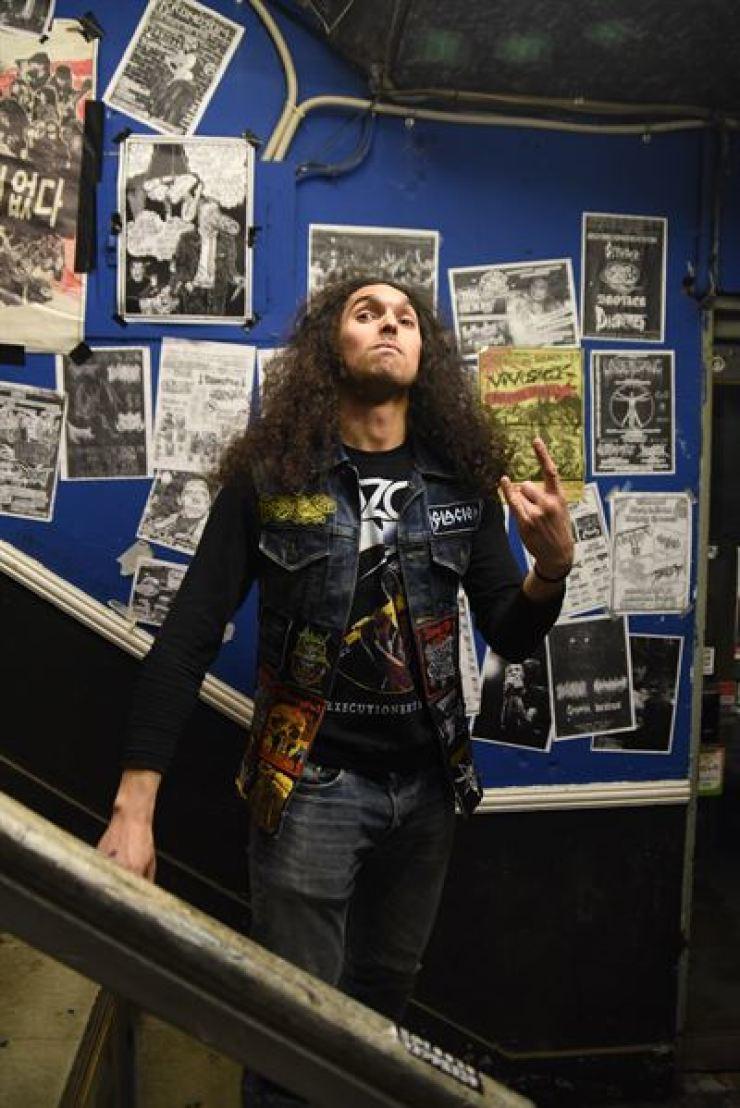 Expat metalhead Dan Orozco at GBN Live House on Dec. 30, 2017. / By Jon Dunbar