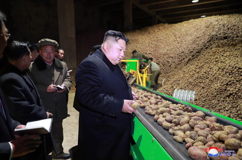 North Korea's leader Kim Jong-un inspected the Samjiyon Potato Farina Production Factory in Samjiyon County, Ryanggang Province, the state-run Korean Central News Agency (KCNA) reported Tuesday. KCNA-Yonhap