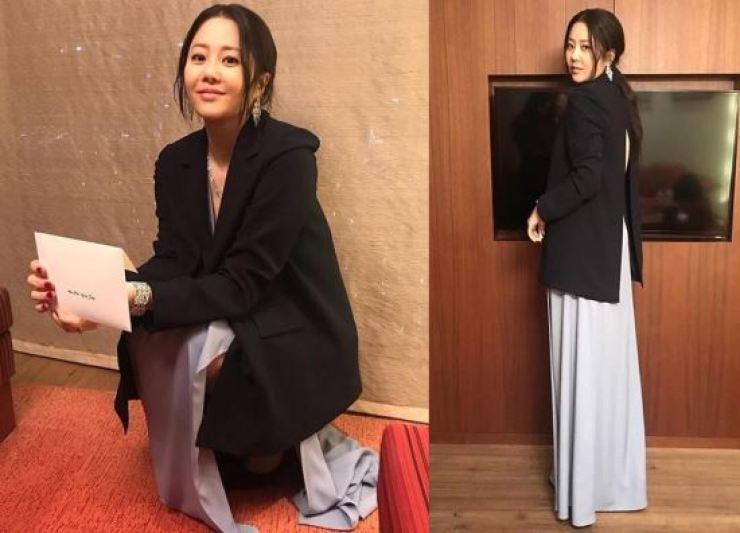 Actress Go Hyun-jung is back in shape, her stylist claims in her Instagram posting.