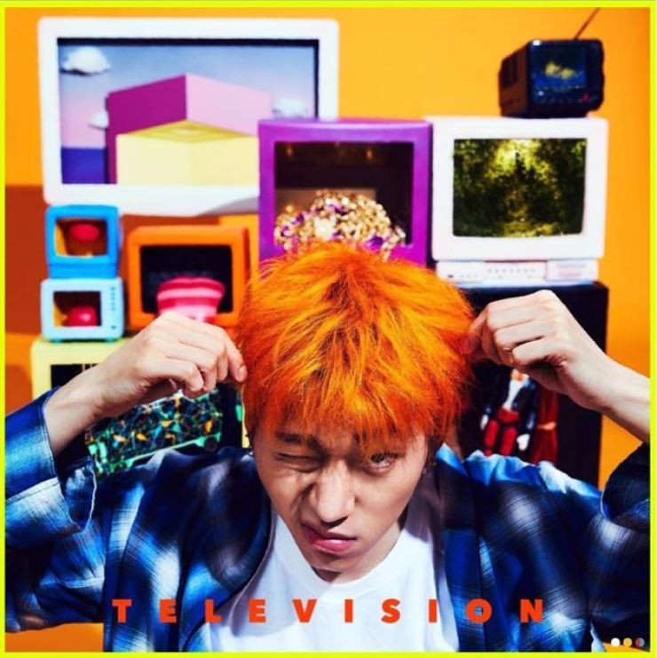 The cover of Zico's 2017 mini-album 'Television.' Photo from Hankook Ilbo