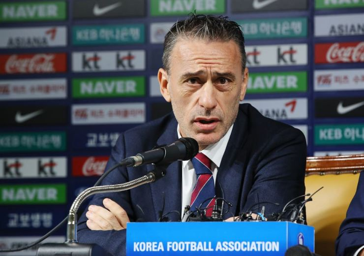 South Korea national football team head coach Paulo Bento announces his roster for the upcoming friendly matches at a press conference at the KFA House in Seoul, Monday. Yonhap