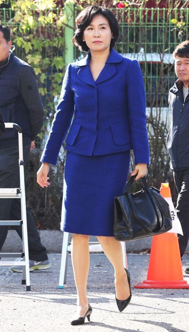 Kim Hye-gyeong, the wife of Gyeonggi Province Governor Lee Jae-myung