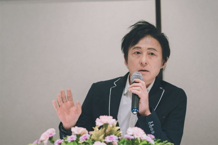 Yang Bang-ean, a composer and pianist, speaks about his upcoming concert 'Yang Bang-ean Utopia 2018' during a press conference at a restaurant in Seoul, Thursday. Courtesy of PRM