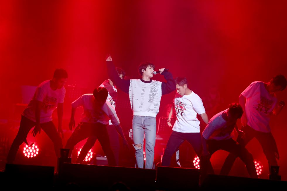 Singer Nam Woo-hyun wows the audience at his solo concert. Courtesy of Woollim Entertainment