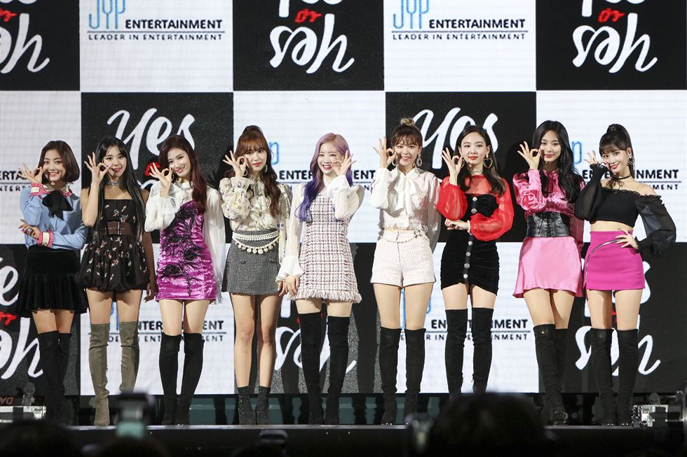 TWICE achieves 10 straight hits with new single 'Yes or Yes'