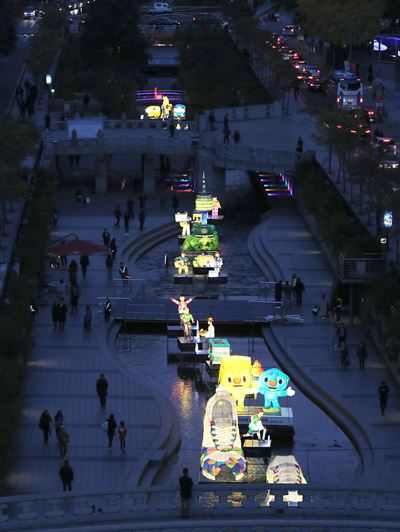 The Seoul Lantern Festival kicked off at Cheonggye Stream last Friday, through Nov. 18. / Yonhap