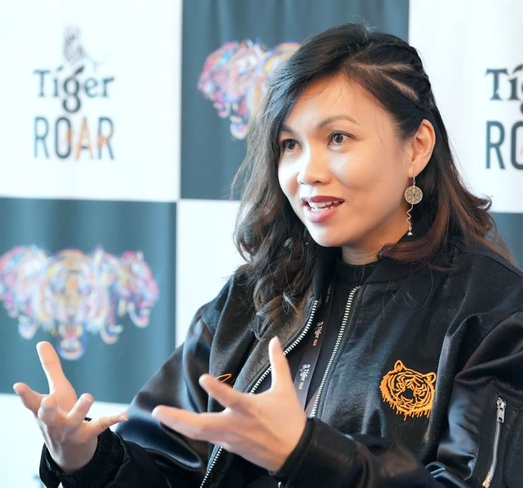 Venus Teoh, international brand director for Tiger Beer, speaks during an interview with The Korea Times at Sebitseom in Seoul, Nov. 9. / Courtesy of Tiger Beer