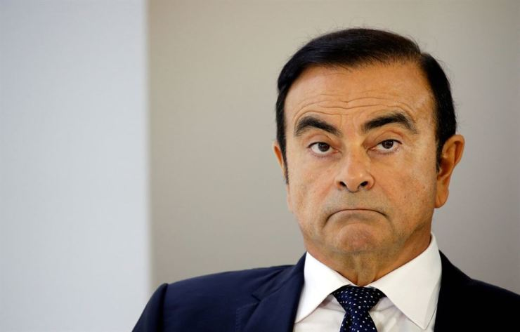 Carlos Ghosn, chairman and CEO of the Renault-Nissan-Mitsubishi Alliance, attends a press conference on the second press day of the Paris auto show, in Paris, France, October 3, 2018. Reuters