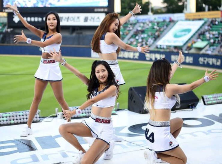 Should cheerleaders be removed? Korea Times file