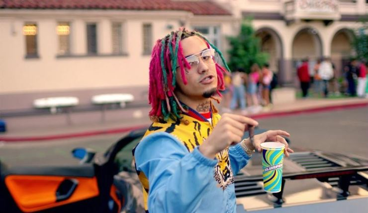 Lil Pump's 40-second preview clip for his new single 'Butterfly Doors' includes the lyrics, 'Smokin' on dope, they call me Yao Ming 'cause my eyes real low!' Cut scene from Lil Pump's 'Gucci Gang'