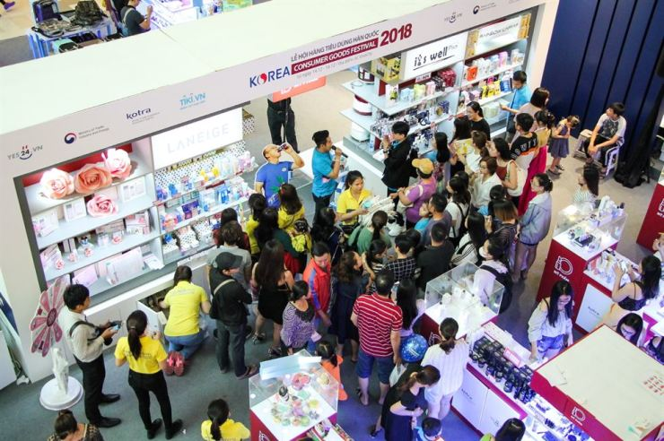The event Korea Trade-Investment Promotion Agency (KOTRA) held in Ho Chi Minh City gathered more than 15,000 customers over three days. Courtesy of KOTRA