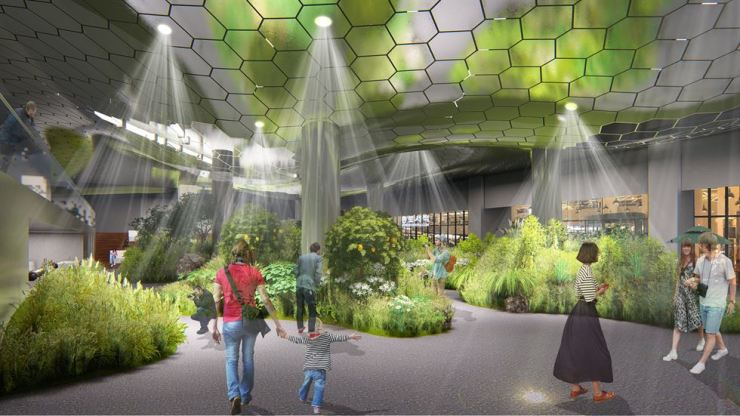 A rendering image of the underground garden under Jonggak Station in central Seoul, which will use sunlight / Courtesy of Seoul Metropolitan Government