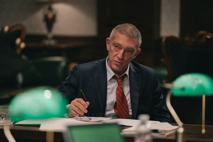 Vincent Cassel seen in the film 'Default.' Courtesy of CJ Entertainment