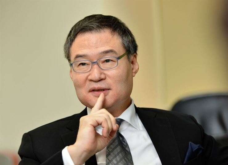 Eugene Bang, the head of DBS Bank Seoul / Korea Times photo by Shim Hyun-chul
