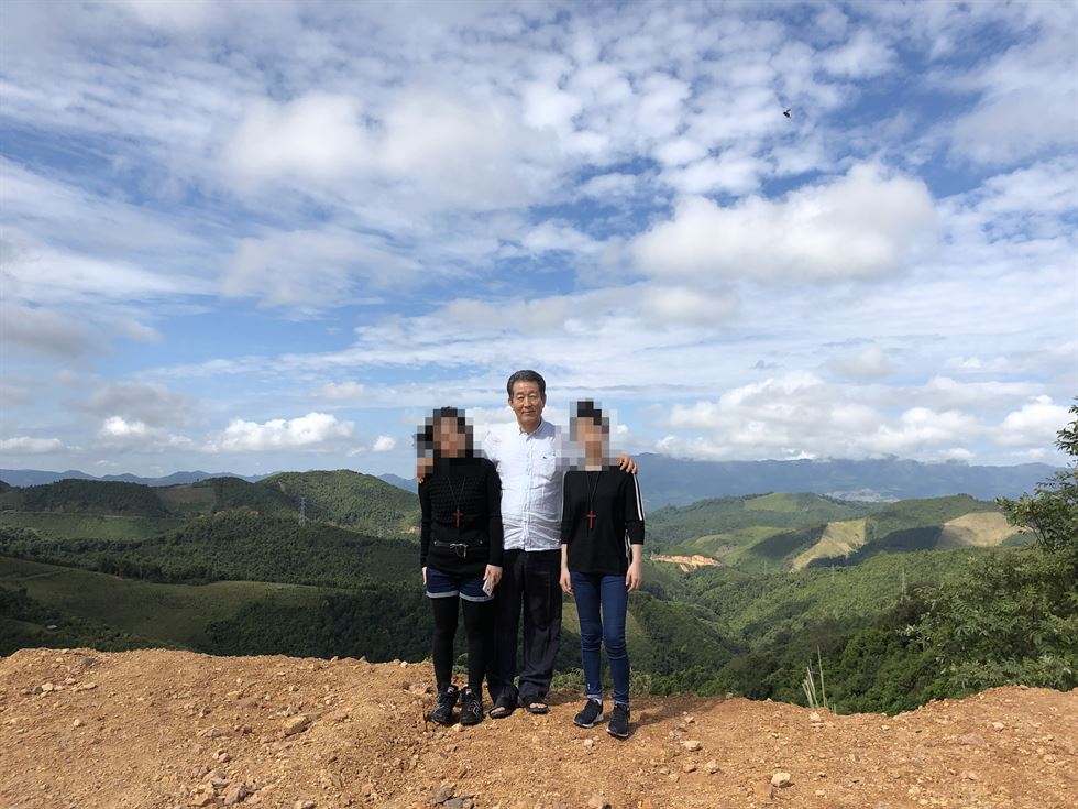 A young North Korean woman who was forced to work as a 'webcam girl' in an apartment in China escapes on Oct. 27, with help from officials at the Durihana Mission, which has been assisting North Korean defectors since the 1990s. Courtesy of Durihana Mission