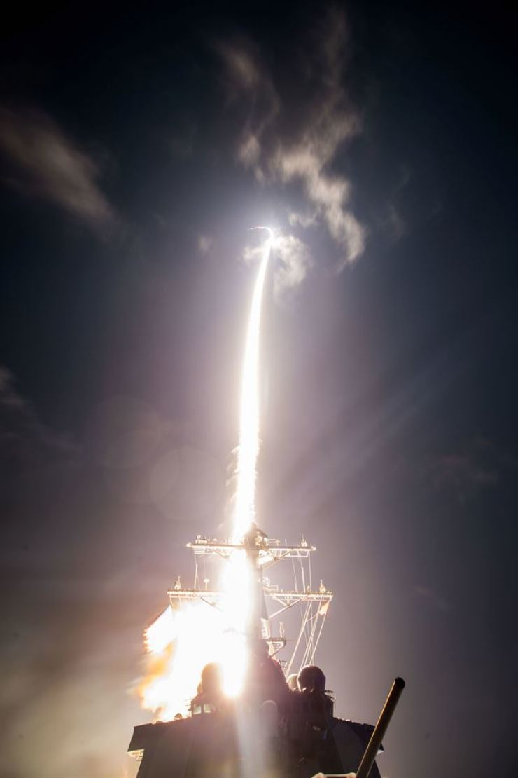 This file photo shows U.S. Missile Defense Agency, Japan Ministry of Defense and U.S. Navy sailors aboard USS John Paul Jones (DDG 53) conducting the first Standard Missile-3 Block IIA intercept test on Feb. 3, 2017, off the west coast of Hawaii. Yonhap (Korea Times file)