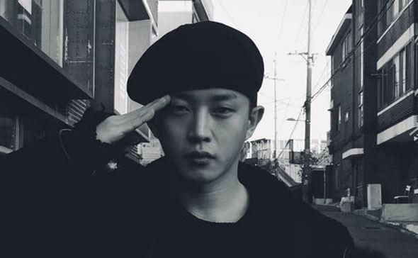 Actor Kim Min-seok will begin his military service. Screengrab of his Instagram