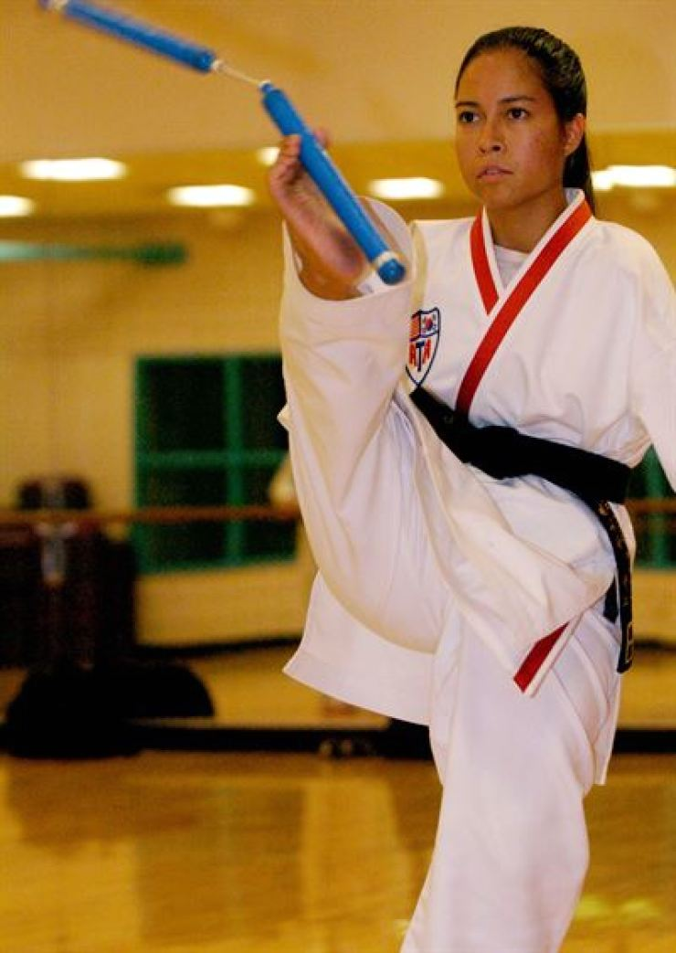 Jessica Cox has been practicing Taekwondo since she was 10 years old. Photos provided by Cox