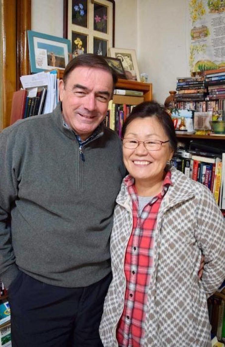 Tim and Sunmi Peters.