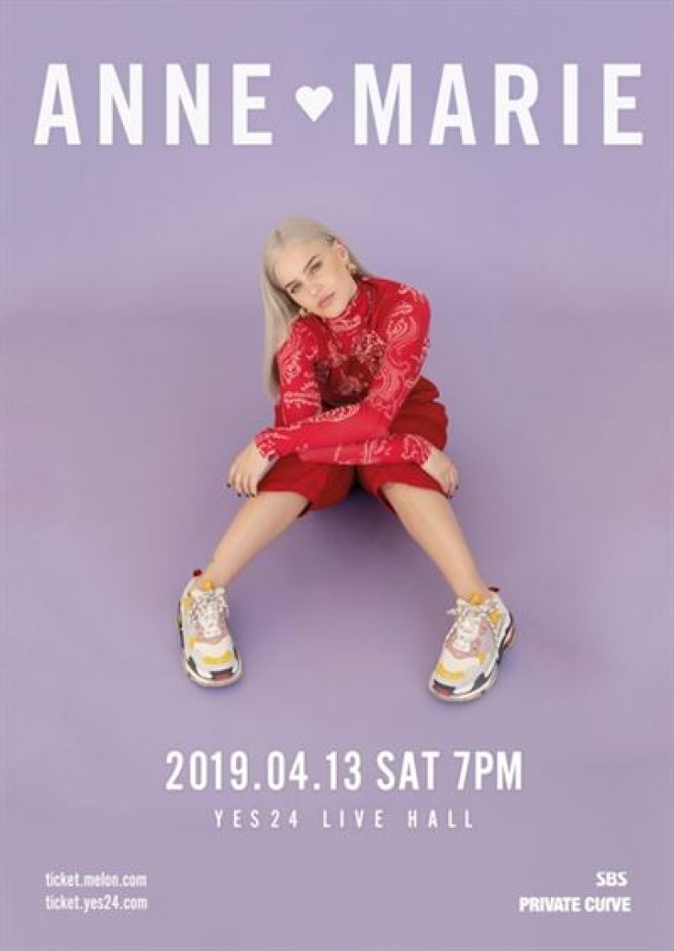 Anne-Marie to hold first Seoul gig in April
