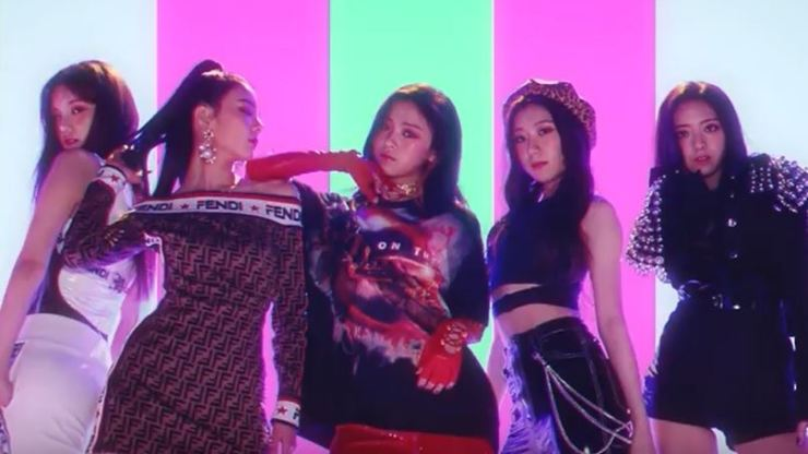 JYP's new girl group ITZY. Capture from YouTube account of 'jypentertainment'