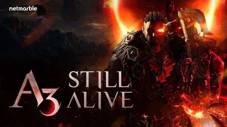 Seen is a poster for 'A3: STILL ALIVE,' a mobile MMORPG that Netmarble plans to release within the first half of the year. / Courtesy of Netmarble