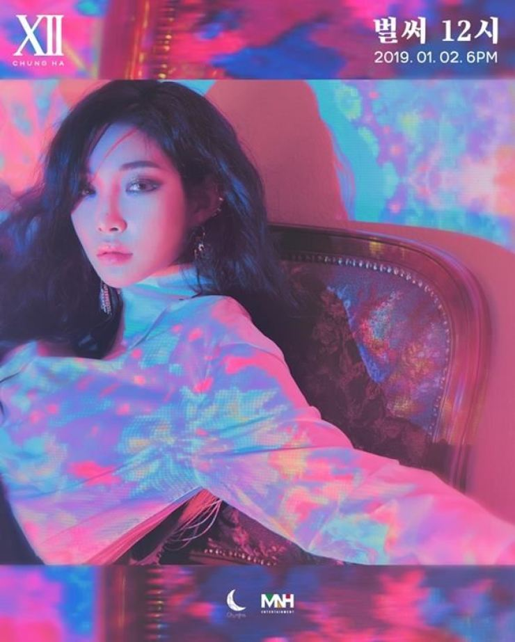 Chung Ha's new solo 'Gotta Go,' released on Jan.2, has topped five Korean TV music charts. Courtesy of MNH Entertainment