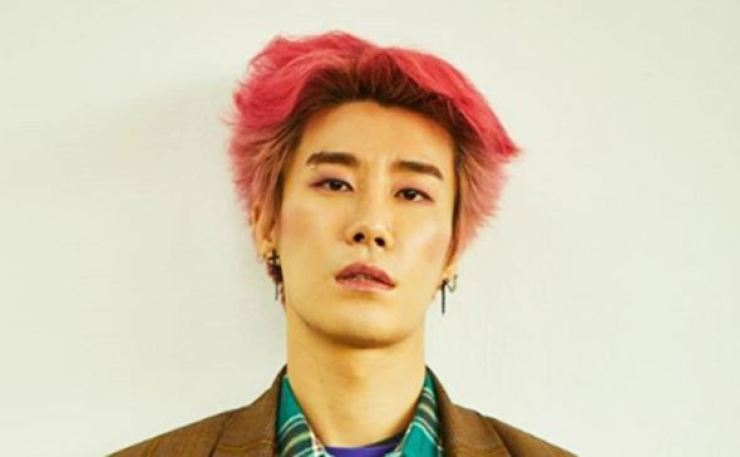 San E embroiled in yet another controversy over displaying inappropriate words on stage. Captured from San E's instagram