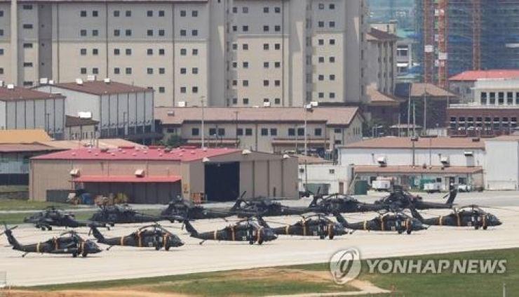 Camp Humphreys, a U.S. Forces Korea base in Pyeongtaek, Gyeonggi Province, is seen in this file photo. Yonhap