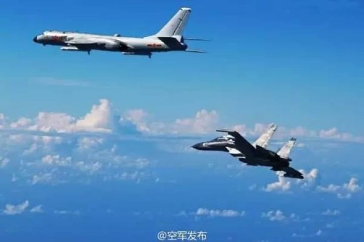 Chinese military aircraft violated the Korean Air Defense Identification Zone (KADIZ) eight times in 2018. / Korea Times file