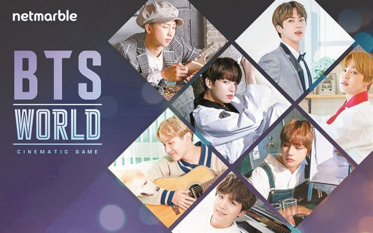 Seen is a poster for 'BTS World,' a mobile game that Netmarble plans to launch within the first half of the year. / Courtesy of Netmarble
